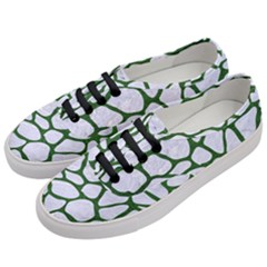 Skin1 White Marble & Green Leather Women s Classic Low Top Sneakers by trendistuff