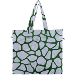 Skin1 White Marble & Green Leather Canvas Travel Bag by trendistuff