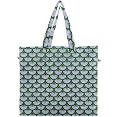 Scales3 White Marble & Green Leather (r) Canvas Travel Bag by trendistuff