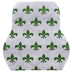 Royal1 White Marble & Green Leather Car Seat Back Cushion  by trendistuff
