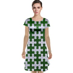 Puzzle1 White Marble & Green Leather Cap Sleeve Nightdress