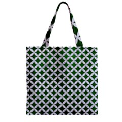 Circles3 White Marble & Green Leather Zipper Grocery Tote Bag by trendistuff