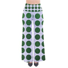 Circles1 White Marble & Green Leather (r) So Vintage Palazzo Pants by trendistuff