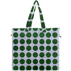 Circles1 White Marble & Green Leather (r) Canvas Travel Bag by trendistuff