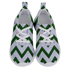 Chevron9 White Marble & Green Leather (r) Running Shoes