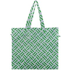 Woven2 White Marble & Green Glitter (r) Canvas Travel Bag by trendistuff