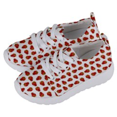 Red Peppers Pattern Kids  Lightweight Sports Shoes by SuperPatterns