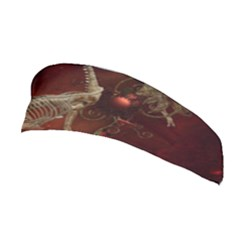 Awesome T Rex Skeleton, Vintage Background Stretchable Headband