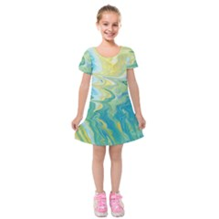 Melting Kids  Short Sleeve Velvet Dress
