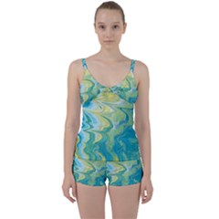 Melting Tie Front Two Piece Tankini