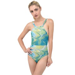 Melting High Neck One Piece Swimsuit