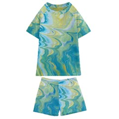 Melting Kids  Swim Tee And Shorts Set