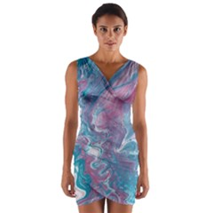 Ripples Wrap Front Bodycon Dress by lwdstudio