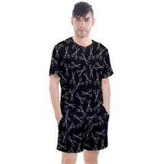 Scissors Pattern Men s Mesh Tee And Shorts Set