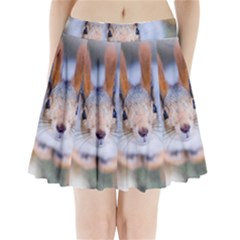 Squirrel Looks At You Pleated Mini Skirt