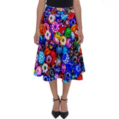 Colorful Beads Perfect Length Midi Skirt by FunnyCow