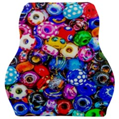 Colorful Beads Car Seat Velour Cushion  by FunnyCow