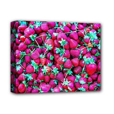 Pile Of Red Strawberries Deluxe Canvas 14  X 11  by FunnyCow