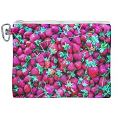 Pile Of Red Strawberries Canvas Cosmetic Bag (xxl) by FunnyCow