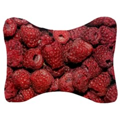 Red Raspberries Velour Seat Head Rest Cushion
