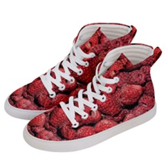 Red Raspberries Men s Hi-top Skate Sneakers by FunnyCow