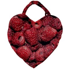 Red Raspberries Giant Heart Shaped Tote by FunnyCow