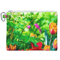 Bleeding Heart Flowers In Spring Canvas Cosmetic Bag (xxl) by FunnyCow