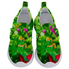 Bleeding Heart Flowers In Spring Velcro Strap Shoes by FunnyCow