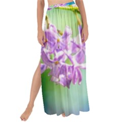 Beautiful Pink Lilac Flowers Maxi Chiffon Tie Up Sarong by FunnyCow
