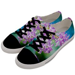 Beautiful Pink Lilac Flowers Men s Low Top Canvas Sneakers by FunnyCow