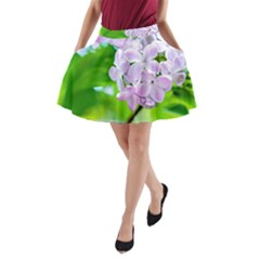 Elegant Pink Lilacs In Spring A Line Pocket Skirt by FunnyCow