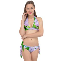 Elegant Pink Lilacs In Spring Tie It Up Bikini Set by FunnyCow
