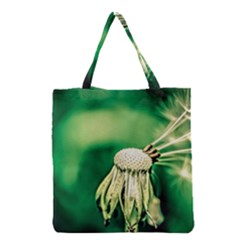 Dandelion Flower Green Chief Grocery Tote Bag by FunnyCow