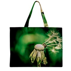 Dandelion Flower Green Chief Zipper Mini Tote Bag by FunnyCow