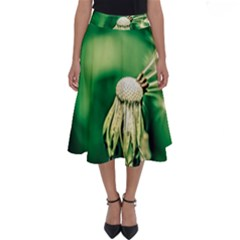 Dandelion Flower Green Chief Perfect Length Midi Skirt by FunnyCow