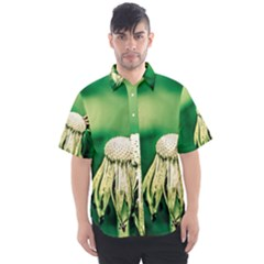Dandelion Flower Green Chief Men s Short Sleeve Shirt