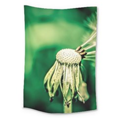 Dandelion Flower Green Chief Large Tapestry by FunnyCow