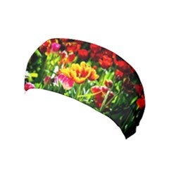 Colorful Tulips On A Sunny Day Yoga Headband by FunnyCow