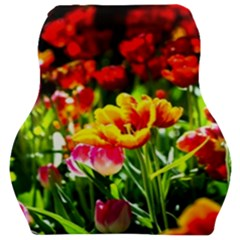 Colorful Tulips On A Sunny Day Car Seat Velour Cushion