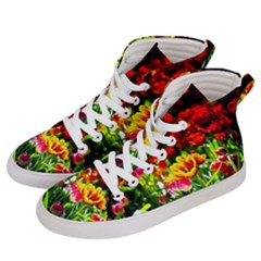 Colorful Tulips On A Sunny Day Men s Hi Top Skate Sneakers by FunnyCow