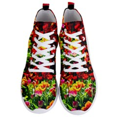 Colorful Tulips On A Sunny Day Men s Lightweight High Top Sneakers by FunnyCow