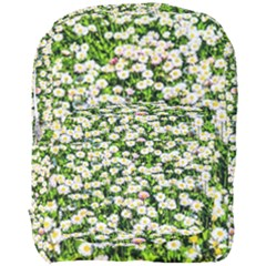 Green Field Of White Daisy Flowers Full Print Backpack by FunnyCow