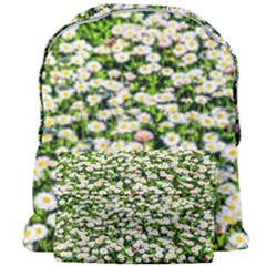Green Field Of White Daisy Flowers Giant Full Print Backpack by FunnyCow