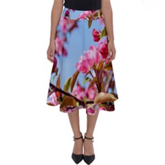 Crab Apple Blossoms Perfect Length Midi Skirt by FunnyCow