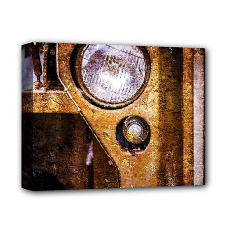 Vintage Off Roader Car Headlight Deluxe Canvas 14  X 11  by FunnyCow