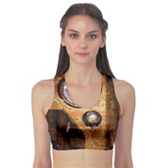 Vintage Off Roader Car Headlight Sports Bra by FunnyCow