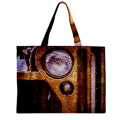 Vintage Off Roader Car Headlight Zipper Mini Tote Bag by FunnyCow