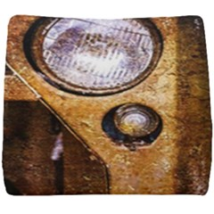 Vintage Off Roader Car Headlight Seat Cushion by FunnyCow