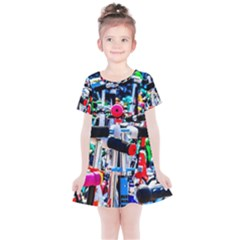 Time To Choose A Scooter Kids  Simple Cotton Dress