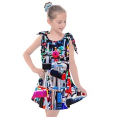 Time To Choose A Scooter Kids  Tie Up Tunic Dress by FunnyCow